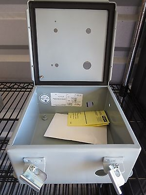 One 1 Hoffman Enclosure Steel Junction Box A808ch New 8x8x4 Pre-drilled