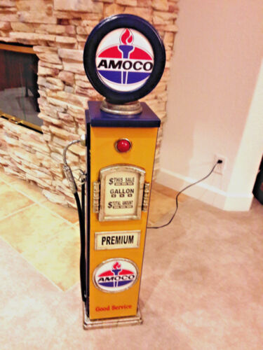 "42"" Amoco Gas Pump Cabinet with light. Man Cave/Gameroom Decor."