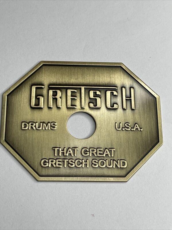 Gretsch 70's STOP SIGN badge Repro Drum Badge