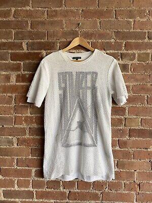 Vintage Alexandre Plokhov Double Layer T-Shirt Size 46 XS Somber Netting