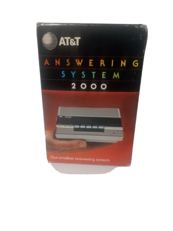Vintage (1986) AT&T Answering System Machine 2000 in box complete, never used