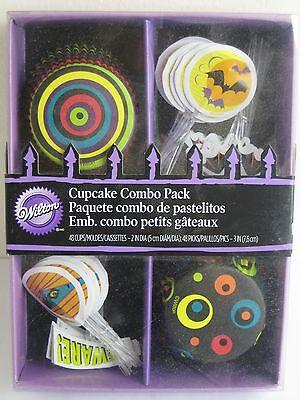 Wilton 48pk Halloween 3D Cupcake Baking Cup Cases & Decorating Picks Combo Pack* - Wilton Halloween Cupcake Combo Pack