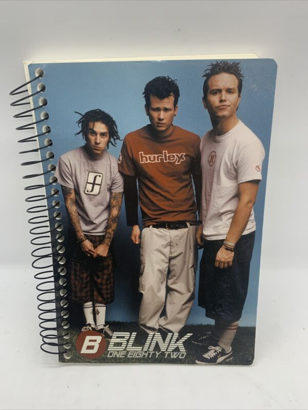 Blink 182 Notebook Notepad 2000 Travis Barker Mark Hoppus Tom DeLong Kaplan
