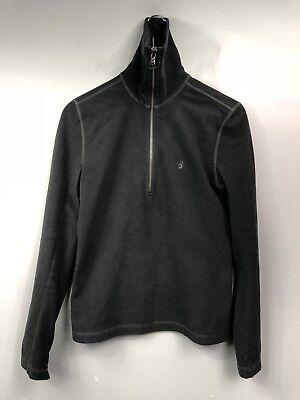 Mens John Varvatos USA Grey 1/2 Zip Turtleneck Sweater Small Pullover Peace