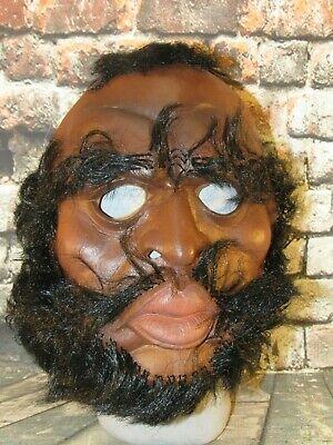 Vintage A Team Mr. T B.A. Baracus Halloween Mask Soft Vinyl 1983 80s Mask Hair