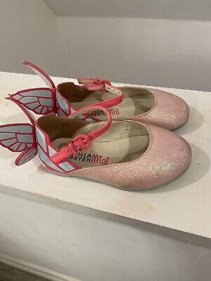 Mini Sophia Webster Pink Glitter Butterfly Ballerina Size 22