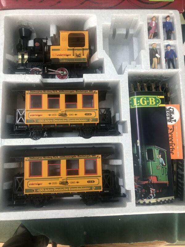 LGB 20528 Schweiger Yellow Passenger Set 1985 New
