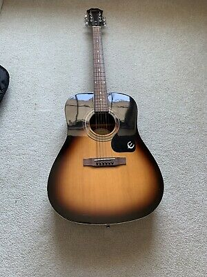 Epiphone PR150 V/S  Acoustic Guitar with case- beautiful finish