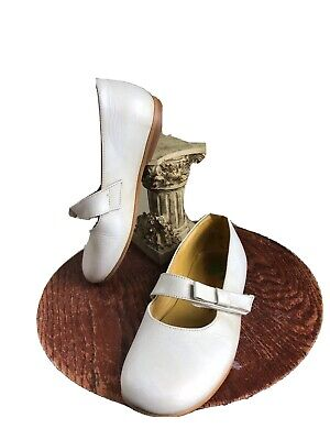 Andanines Toddler Girls Sz 11 EU 28 Leather Dress Shoes with Bow Free S/H Of
