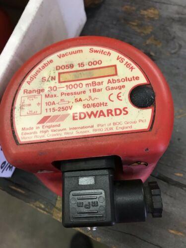 Edwards D05915000 VS16K Adjustable Vacuum Switch