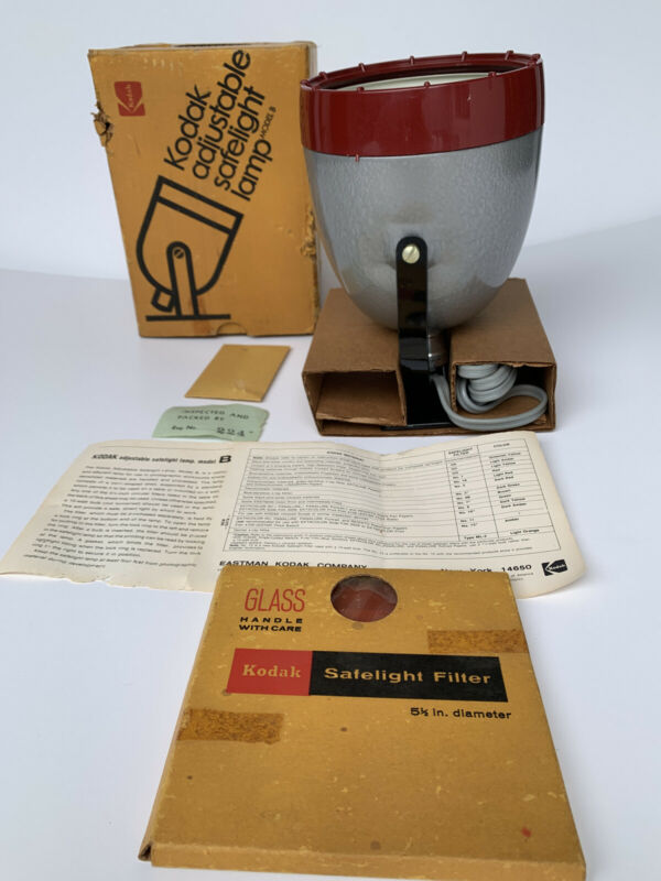 Kodak Adjustable Safelight Lamp Model B, CAT 1412212 New Old Stock Photographic