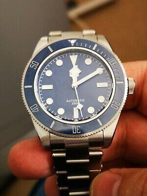 San Martin SN008G Blue Automatic Watch - Black Bay 58 Homage