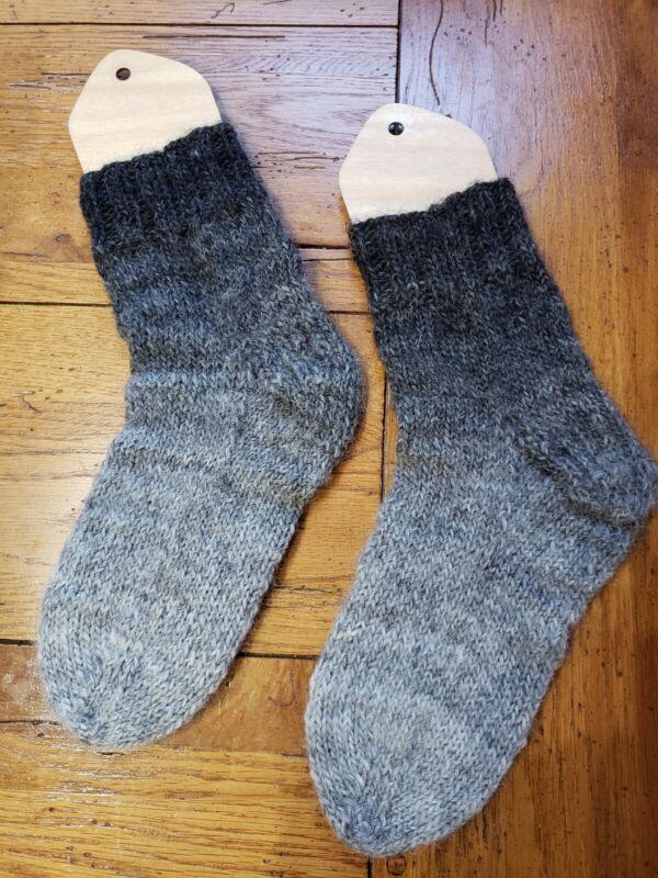 NEW Hand knit  thick Winter Ski Socks  wool  Large Size 9-10
