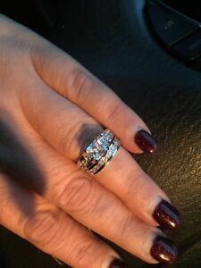 925 Sterling Silver 2-Piece Ring Set