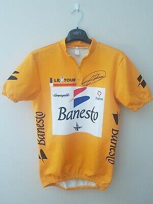 Maillot amarillo Ciclismo Tour de Francia Miguel Induráin año 1991 banesto nos