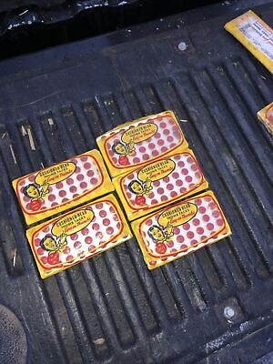 Vintage Lot Of 5 Nos 10 Cent Shelton Cushioned Head Thumb Tacks Red