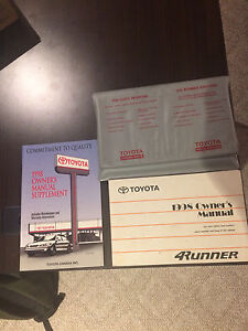 1998 4Runner Owners Manual