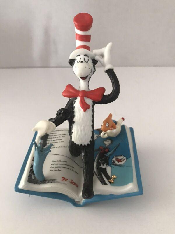 Dr Seuss Rainy Day Games Hallmark Figurine Cat In The Hat QSU2044 New Rare!