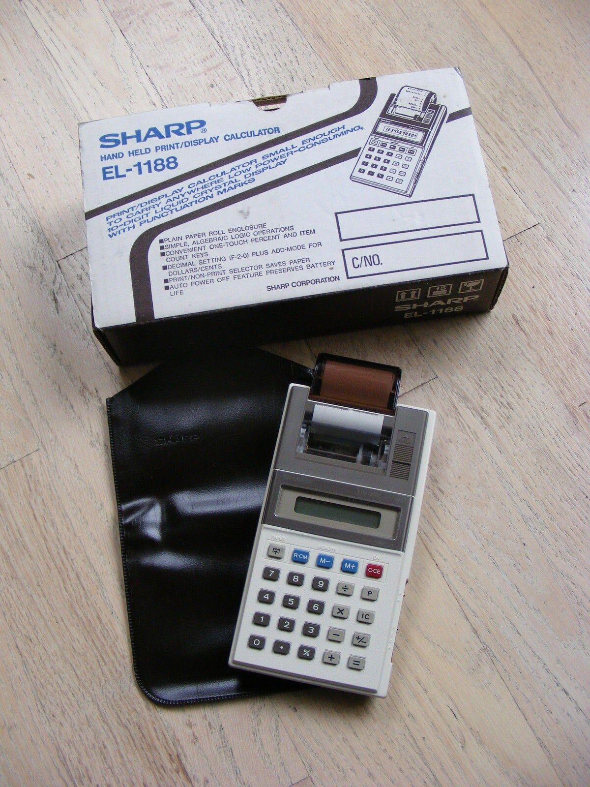 SHARP EL-1188 PRINT DISPLAY CALCULATOR