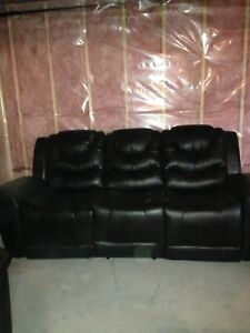 Two seater sofa and three seated couch with cup holder