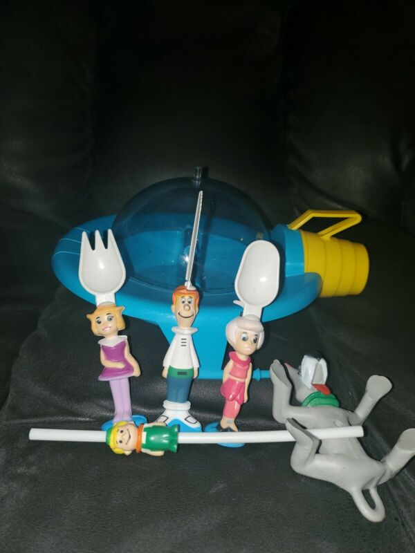 Vintage Starwares Hanna Barbara The Jetsons Cartoon Childrens 9pc Dinnerware Set