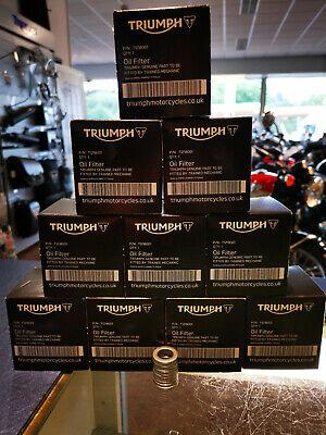 GENUINE TRIUMPH OIL FILTER X10 T1218001 BOX OF 10 OIL FILTERS