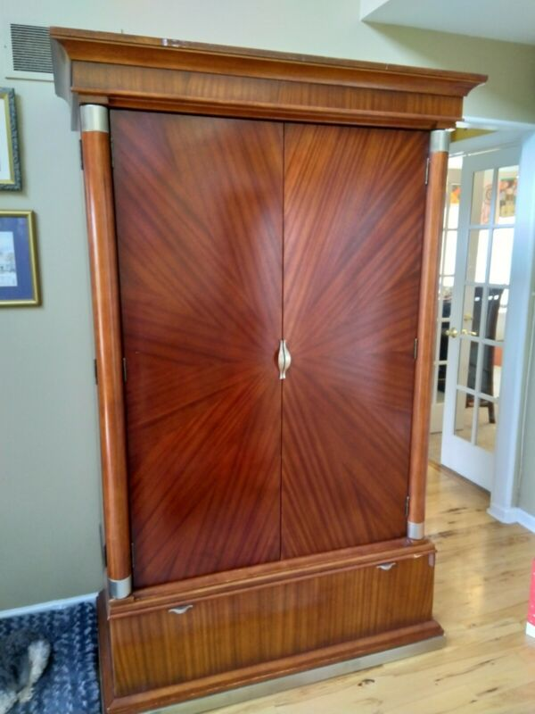 Tiger Striped Cherry Solid Wood Armoire