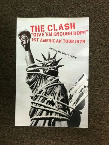 The Clash Give Em Enough Rope 1979 American Tour Cardstock Concert Poster 12x18