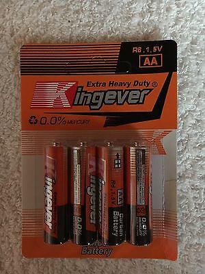 4 x Kingever Extra Heavy Duty AA R6 Mignon Batterie 1,5V/ OVP ()