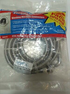 "2 Watts 3/4"" x 3/4"" x 72"" Stainless Steel Washing Machine Connectors 90° Elbow for sale  Shipping to Nigeria"