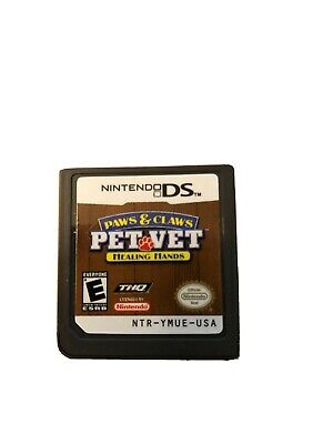 Paws and Claws Pet Vet Healing Hands Nintendo DS Video Game Cart Only Pet Vet Nintendo Ds