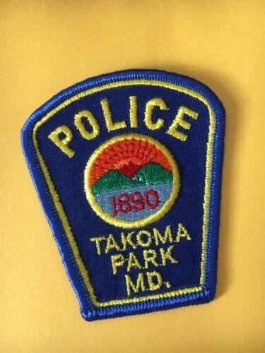"""Takoma Park  Maryland Police Patch Vintage 3"""" SIZE"""
