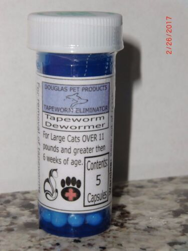 Expert Care Tapeworm Dewormer Cat and Large Cat Combo Pack -2 Bottles - USA Made