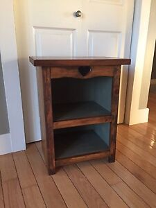 Solid wood pair (2) end tables