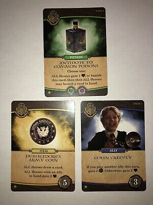Harry Potter Hogwarts 2020 Promo Card Set 3 Creevy, Antidote, Dumbledore's Army