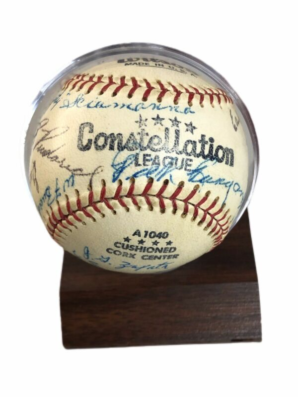 1954 Constellation League Fort Rich 96th AAA Battalion Autographed Baseball RARE