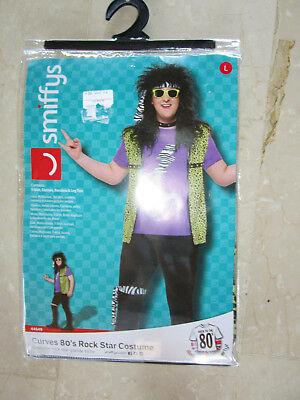 Rock Star Kostüm Gr. L Erwachsene 80s Jahre , neu, ovp