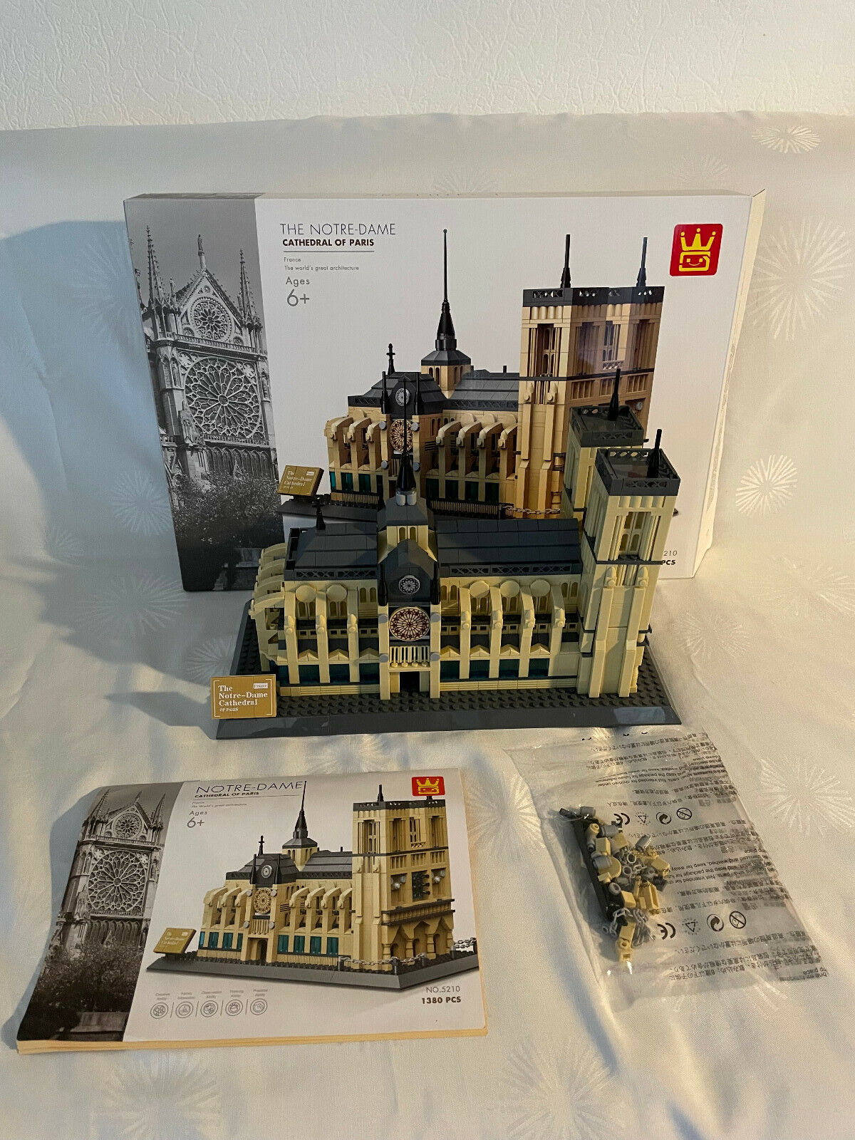 Wange 5210 Notre Dame Paris (Klemmbausteine) Architektur Modell mit OVP und BA