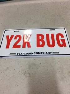 New never used Y2K license pkate
