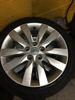 Set of 4 KIA OEM ALLOYS 215/45/17 $300 OBO