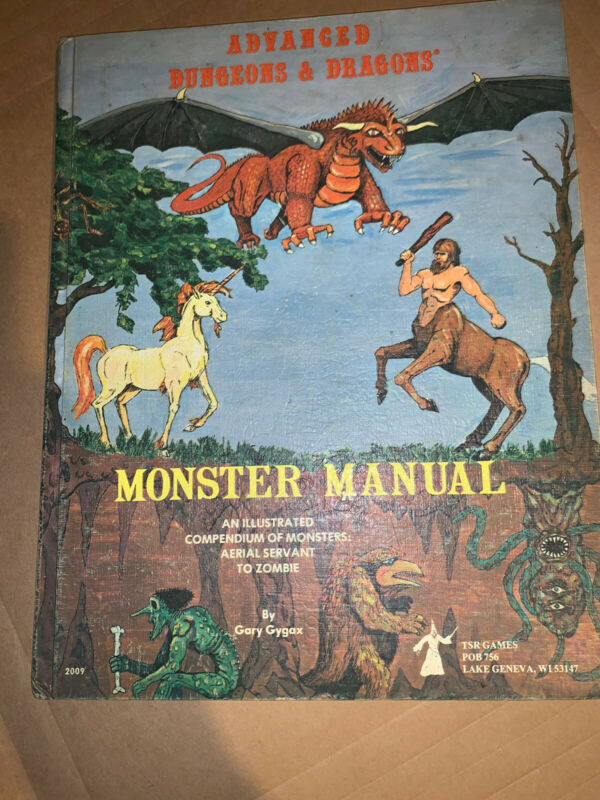 AD&D 3rd Printing Hardcover - Monster Manual - Dungeons and Dragons - TSR 2009