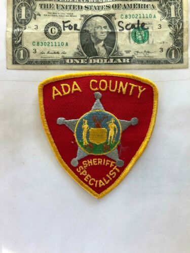 Ada County Idaho Police Patch (SHERIFF SPECIALIST) Un-sewn in great shape