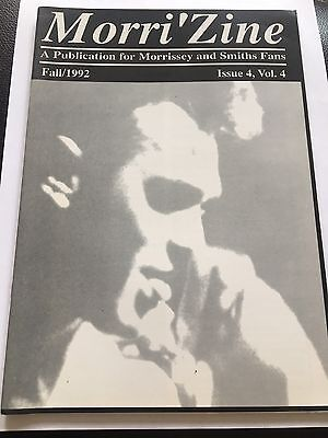 Morrissey - Morrizine Fanzine Fall 1992 Your Arsenal The Smiths
