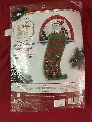 Bucilla THE ELF ON A SHELF #86507 Felt Christmas Advent Calendar Kit 18x24 NEW