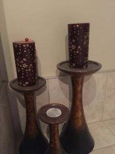 BOMBAY AND COMPANY CANDLE HOLDERS