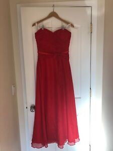 Red Milano grad dress for sale