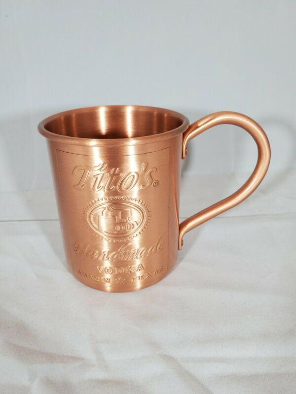 NEW Lot Bundle of 2 TwoTitos Handmade Vodka Moscow Mule Copper Mugs Collectible