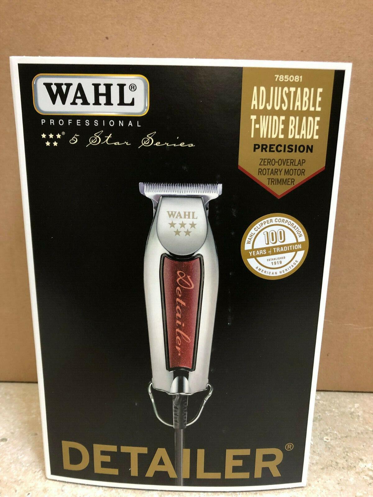 Wahl 5 Star Detailer Pro Barber Hair Trimmer # 8081 Adjustab