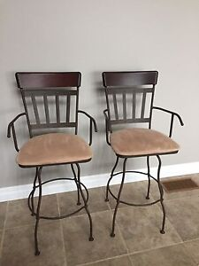 Two Swivel Bar Stools