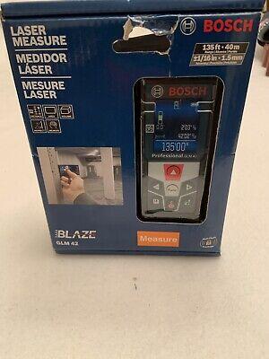 New Bosch Laser Measure Blaze Glm 42 Full Color Display